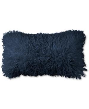 Donna Karan Home Flokati Indigo 11 x 22 Decorative Pillow Bedding