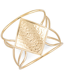 SIS by Simone I. Smith Hammered Openwork Cuff Bracelet in 14k Gold over Sterling Silver