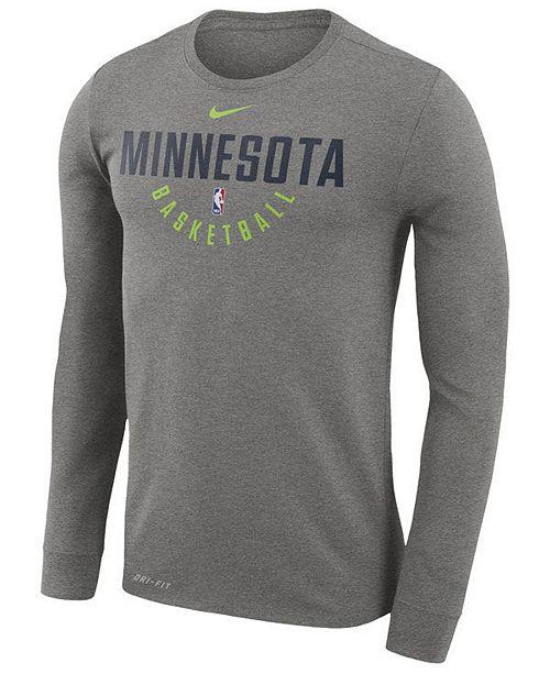 ... Nike Men s Minnesota Timberwolves Dri-FIT Cotton Practice Long Sleeve  T- ... ae58e6008