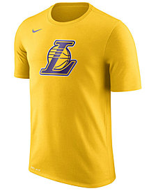 Nike Men's Los Angeles Lakers Dri-FIT Cotton Logo T-Shirt