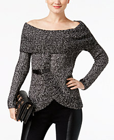 I.N.C. Off-The-Shoulder Sweater, Created for Macy's