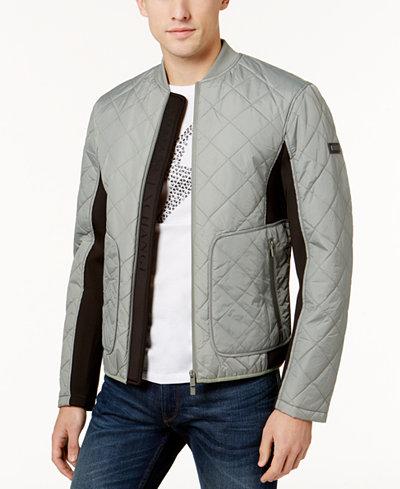 Armani Exchange Men's Zip-Front Quilted Jacket