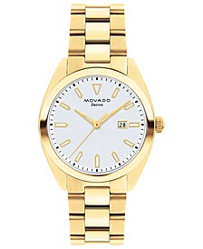 Women's Swiss Heritage Series Datron Gold-Tone Stainless Steel Bracelet Watch 31mm