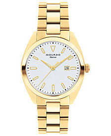 Movado Women's Swiss Heritage Series Datron Gold-Tone Stainless Steel Bracelet Watch 31mm
