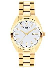 Movado Women's Swiss Heritage Series Datron Gold-Tone Stainless Steel Bracelet Watch 31mm
