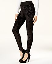 XOXO Juniors' Velvet Stirrup Pull-On Pants