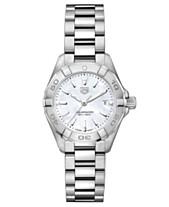 TAG Heuer Women s Swiss Aquaracer Stainless Steel Bracelet Watch 27mm 0094413ea