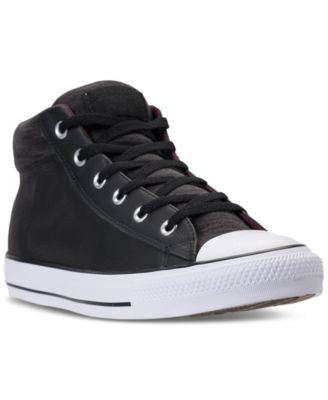 Converse Men s Chuck Taylor All Star Street Mid Casual Sneakers from ... fa9e7aba6c8a5