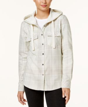 Columbia Canyon Point Ii Cotton Flannel Plaid Hooded Shirt thumbnail