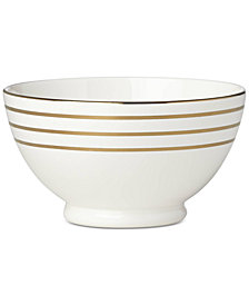 kate spade new york Charles Lane™ Gold-Tone Stripe Accents Fruit Bowl, Created for Macy's
