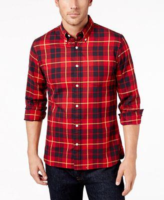 Brooks Brothers Red Fleece Men's Slim-Fit Flannel Tartan Shirt