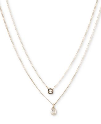 """Double Row Pendant Necklace, 16"""" long + 3"""" Extender, Created for Macy's"""