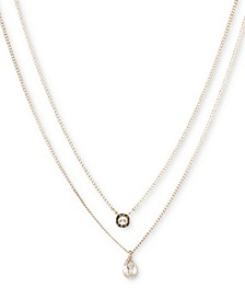 "Double Row Pendant Necklace, 16"" long + 3"" Extender, Created for Macy's"