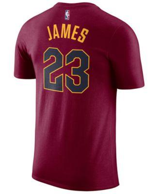 Nike Men\u0027s Lebron James Cleveland Cavaliers Name \u0026 Number Player T-Shirt