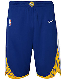 Nike Golden State Warriors Icon Swingman Shorts, Big Boys (8-20)