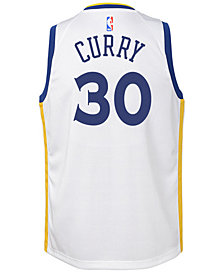 Nike Stephen Curry Golden State Warriors Association Swingman Jersey, Big Boys (8-20)