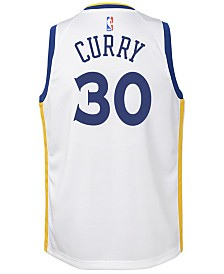 Nike Stephen Curry Golden State Warriors Association Swingman Jersey, Big Boys (8-20)