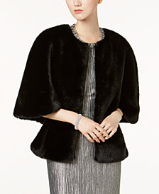 Adrianna Papell Faux-Fur Wrap