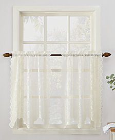 "Lichtenberg No. 918 Alison Floral Lace 58"" x 36"" Rod-Pocket Kitchen Curtain Tier Pair"