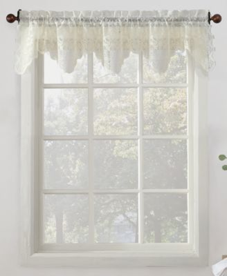 "No. 918 Alison Floral Lace 58"" x 14"" Rod-Pocket Kitchen Curtain Valance"