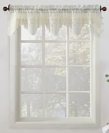 "No. 918 Alison Floral Lace 58"" x 14"" Rod-Pocket Kitchen Curtain Valance"
