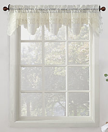 "Lichtenberg No. 918 Alison Floral Lace 58"" x 14"" Rod-Pocket Kitchen Curtain Valance"