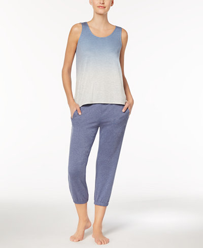 Alfani Dip-Dye Pajama Tank & Jogger Pants, Created for Macy's
