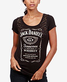 Lucky Brand Studded Graphic-Print T-Shirt