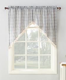 """Lichtenberg No. 918 Maisie Plaid 54"""" x 38"""" Rod-Pocket Kitchen Curtain Swag Pair"""