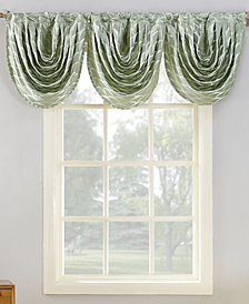 "CLOSEOUT! Sun Zero Atticus Metallic Geometric Jacquard 24"" x 22"" Blackout Lined Rod-Pocket Curtain Valance"