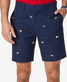 "Nautica Men's Big & Tall Classic-Fit Embroidered 8.5"" Deck Shorts"