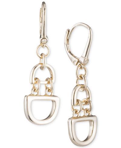 DKNY D-Link Chain Drop Earrings, Created for Macy's