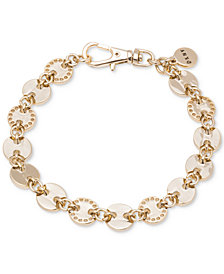 DKNY Gold-Tone Multi-Disc Link Bracelet, Created for Macy's