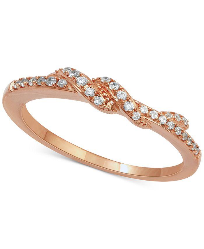 Macy's - Diamond Twist Ring (1/7 ct. t.w.) in 14k Rose Gold