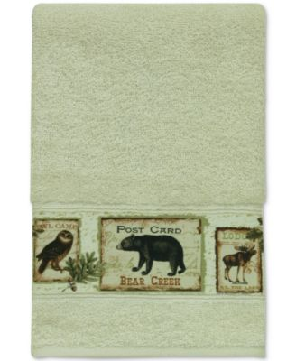 Lodge Memories Cotton Graphic-Print Hand Towel
