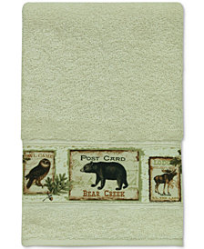 Bacova Lodge Memories Cotton Graphic-Print Hand Towel