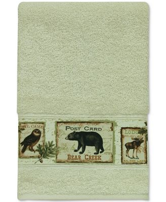 Bacova Lodge Memories Cotton Graphic-Print Hand Towel