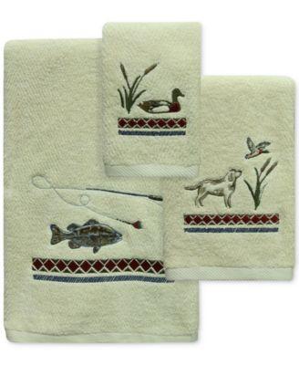 Live Love Lake Cotton Embroidered Bath Towel