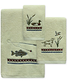 Bacova Live Love Lake Cotton Embroidered Bath Towel