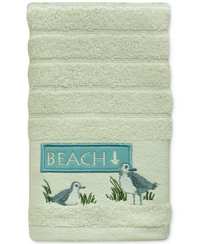 Bacova Beach Cruiser Cotton Embroidered Stripe-Jacquard Fingertip Towel