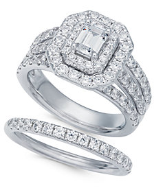 Diamond Halo Bridal Set (2-1/2 ct. t.w.) in 14k White Gold