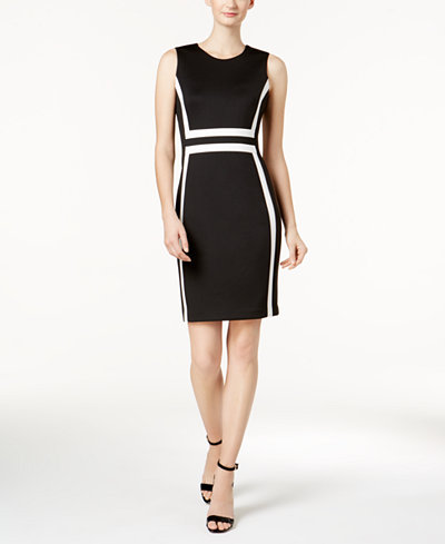 Calvin Klein Colorblocked Sheath Dress Dresses Women