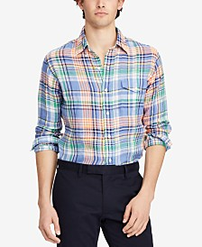 Polo Ralph Lauren Classic Fit Plaid Linen Shirt Store Sale Online Free Shipping Cheapest Price Discount Professional Low Cost Cheap Online q9Ov80D5k2
