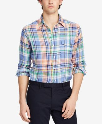 Polo Ralph Lauren Classic Fit Plaid Linen Shirt