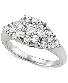 Diamond Cluster Ring (1-1/4 ct. t.w.) in 14k White Gold
