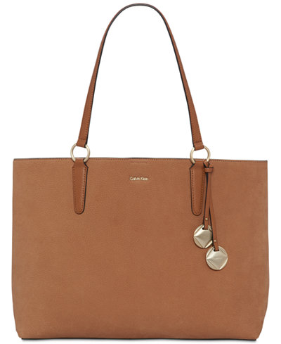 Calvin Klein Reese Extra-Large Suede Tote