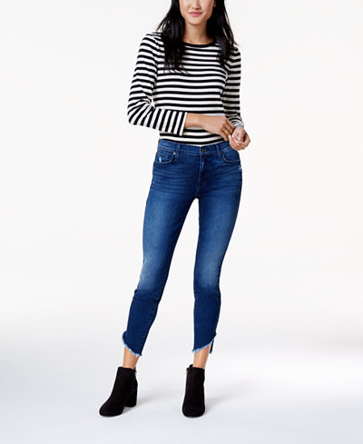 7 For All Mankind Asymmetrical Ankle Skinny Jeans