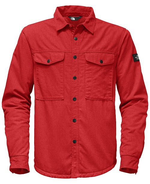 4a446cfa1 The North Face Men's Insulated Sherpa Fleece-Lined Shirt & Reviews ...