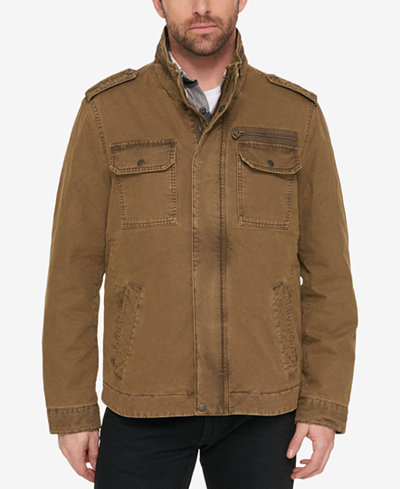 G.H. Bass & Co. Men's Snap-Pocket Military Jacket - Coats ...