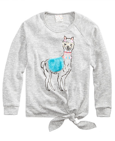 Belle Du Jour Llama Sweater, Big Girls